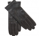 Lined Leather Gloves, black